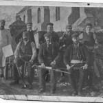 Lismore Church 1900c. Workmen at Lismore Church. Source- Jessie MacKenzie