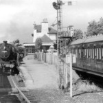 Appin Railway Station 1950's Camping coach on the right