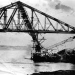 Connel Bridge Connel Ferry Railway Bridge under construction 1900c