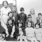 Port Appin School Back Row: Sheena MacDougall, Jessie Donaldson (Ardtur), Alasdair MacLean (Glaick) Neil Thomson, Maggie MacCorquodale (Coelard), Jackie McLurg (Ardtur). Middle Row: May MacFadyen, Alex MacCorquodale. Front Row: Janet Thomson, Jenny MacFadyen, Mary MacCorquodale, Roberta MacFadyen, Ian Ross