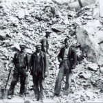 Creagan Quarry Quarry workers at Creagan Quarry. Ian MacEwan rhs. Source - Hamish MacEwan