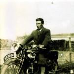Donald Carmichael 1930's. Donald Carmichael (1901-2003) Taychreggan on his BSA Motorbike