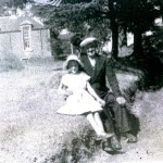 Duncan Cameron 1954. Duncan Cameron lived at Portnacroish and was locally known as Friday. Sitting with Duncan, in this photo, is his grand-daughter Margaret McEwan. Source- William McEwan.