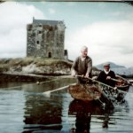 Fishing in Loch Laich Sandy MacDonald (Furry), 2 Appin Railway Cottages and his brother Donald (rowing) 1 Appin Railway Cottages.