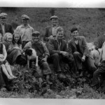 Glenstockdale 1952. Back row. Jimmy King Glenstockdale, Robert Brown Achnacone Cottage, Alex Cummings Achnacone, Front row. Malcolm Colthart Kinlochlaich Farm, Lilian King Glenstockdale, Janet Cummings Achnacone, Margaret King Glenstockdale, Sandy MacIntyre, Ian Weir Invernahyle Farm, Robin Colthart Kinlochlaich Farm, Rory MacLeod Lurignish Farm. Source- Robin Colthart