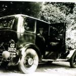 Dugald or John Black (Tynribbie Garage) 1936. Blacks Morris car at wedding, Tigh Buidhe House.