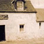 Creagan Inn Jimmy McNicol standing inside bar entrance doorway. Source - Hamish MacEwan