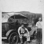 AchosriganFord Model T. Donald Lawrie (standing). Source- Catherine Van Galen