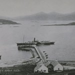 PS Fusilier Taken in 1908. The 251 Ton Paddle Steamer started her Oban to Fort William run in 1889, after the 'PS Mountaineer' meet her fate while passing the rocks at Lismore Lighthouse.